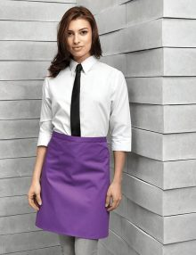 Premier Purple Waist Apron with No Pocket