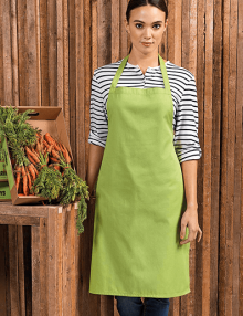 Waitress wearing cotton apron