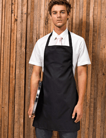Waiter wearing event apron