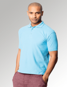 Sky Blue Men's Premium Polo Shirt