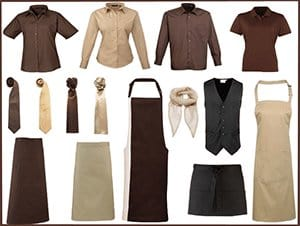 Catering and Hospitality - Brown Uniforms