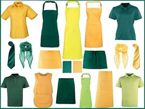 Catering and Hospitality - Green Uniforms