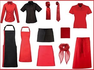 Catering and Hospitality - Red Uniforms