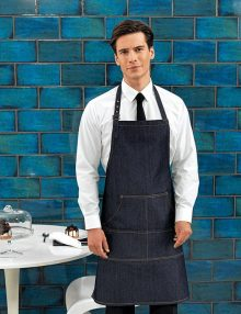 Waiter with Denim Bib Apron