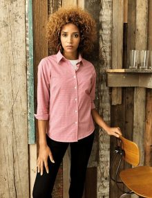 Casual Long Sleeve Gingham Shirt