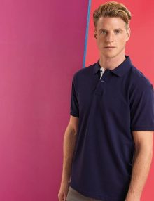 Men's Navy and White Contrast Polo
