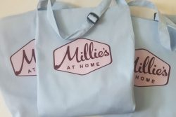 Baby Blue Aprons with Printed Logo