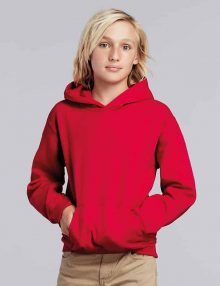 boy wearing red hoodie