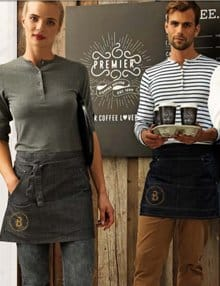 Personalised Denim Waist Aprons with Logo