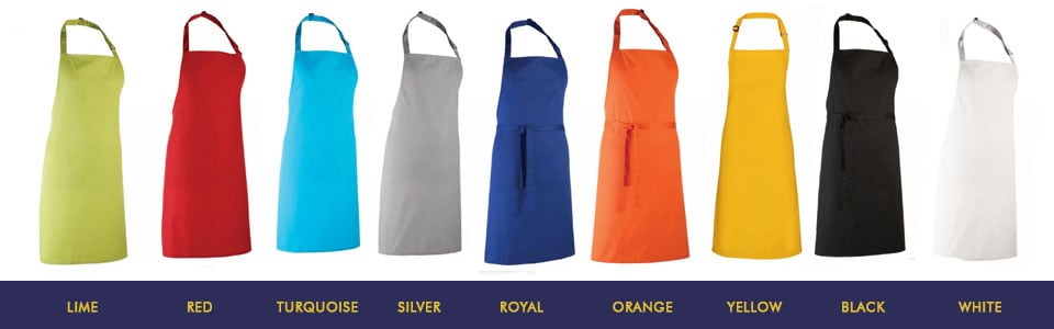 Coloured Bib Aprons