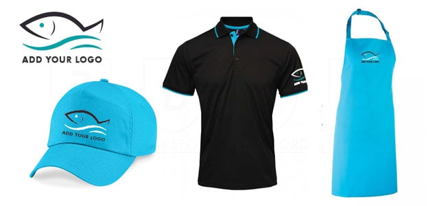 Cap, Polo and Apron for Fish Shop