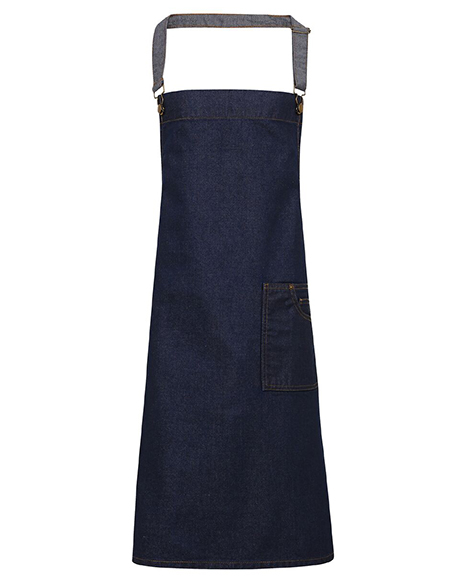 Waxed Look Bib Apron Front