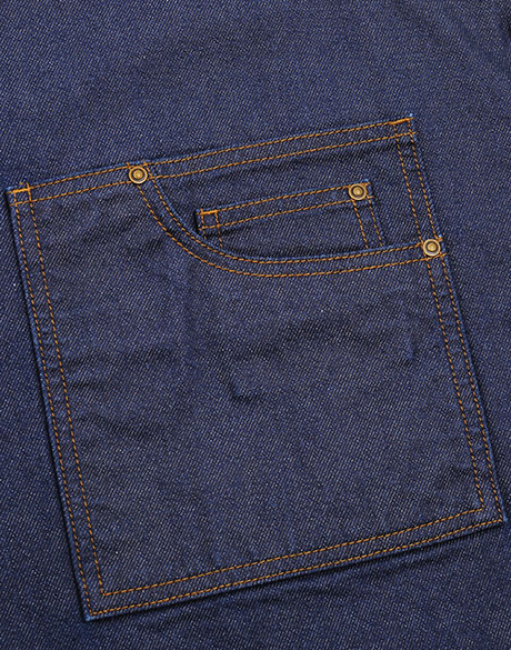 Waxed Look Denim Bib Zoom 2