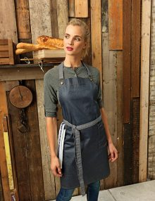 Waxed Denim Bib Apron