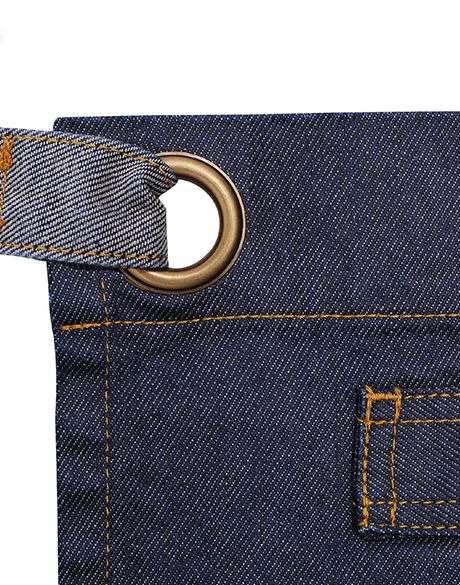 Waxed Look Denim Waist Apron Zoom 2