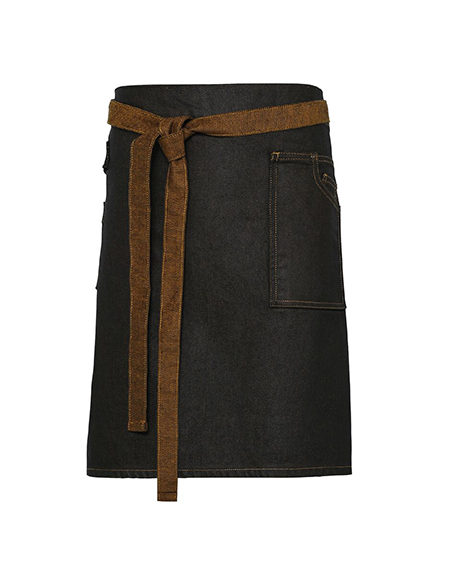Waxed Look Denim Waist Apron