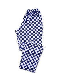 Royal Navy and White Check Teflon Coated Chef Trouser