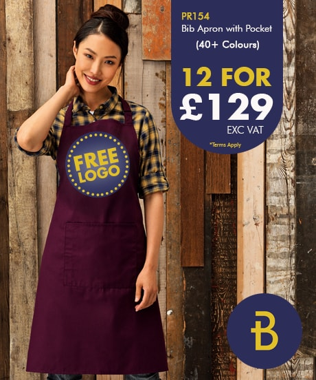 Deal for 12 Bib Aprons with Pocket