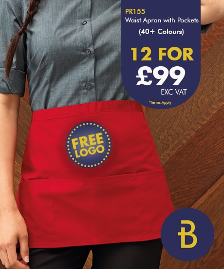 Waist Aprons with Pocket - Free Logo Deal