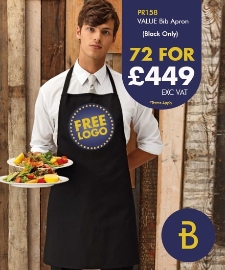 72 Value Bib Aprons with Free Logo Deal