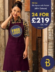 24 Bib Aprons with Pocket Deal