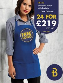PR159 Short Bib Apron Deal