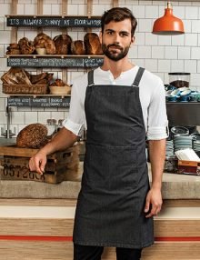 Black Crossback Bib Apron