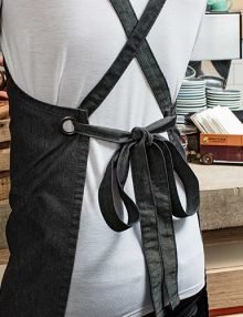 Back of cross back apron