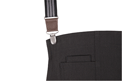 black/grey suspender straps